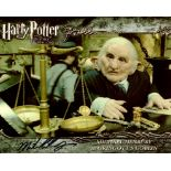Harry Potter 8x10 movie photo signed by actor Michael Henbury who played Gringots Goblin. Good