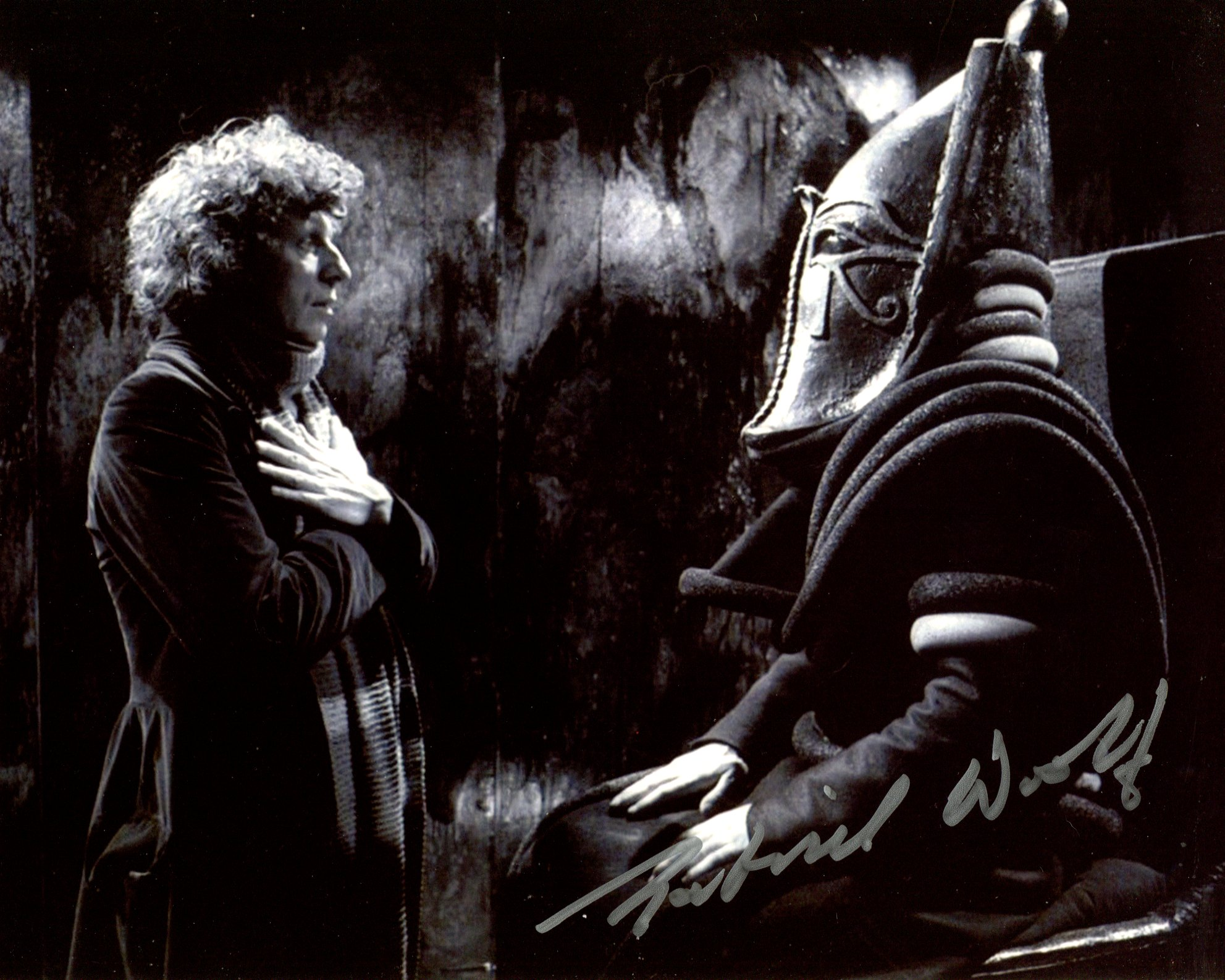 Doctor Who 8x10 inch photo scene from 'Pyramids of Mars' signed by actor Gabriel Woolf. Good