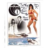 007 Bond girl. The Spy Who Loved Me actress Caroline Munro signed 8x10 photo. Good condition. All