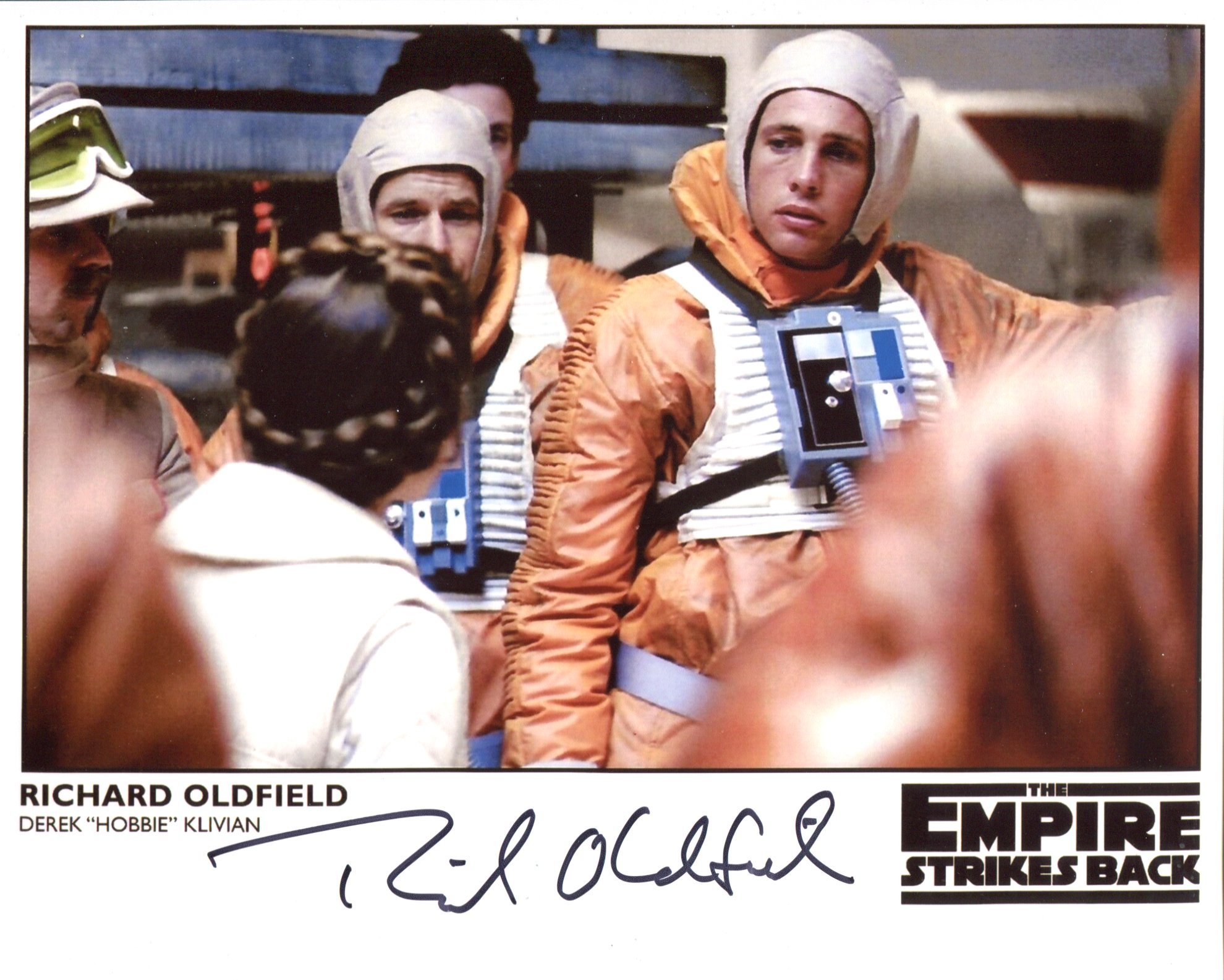 Star Wars 8x10 photo from Return of the Jedi, signed by B-Wing pilot Richard Oldfield. Good