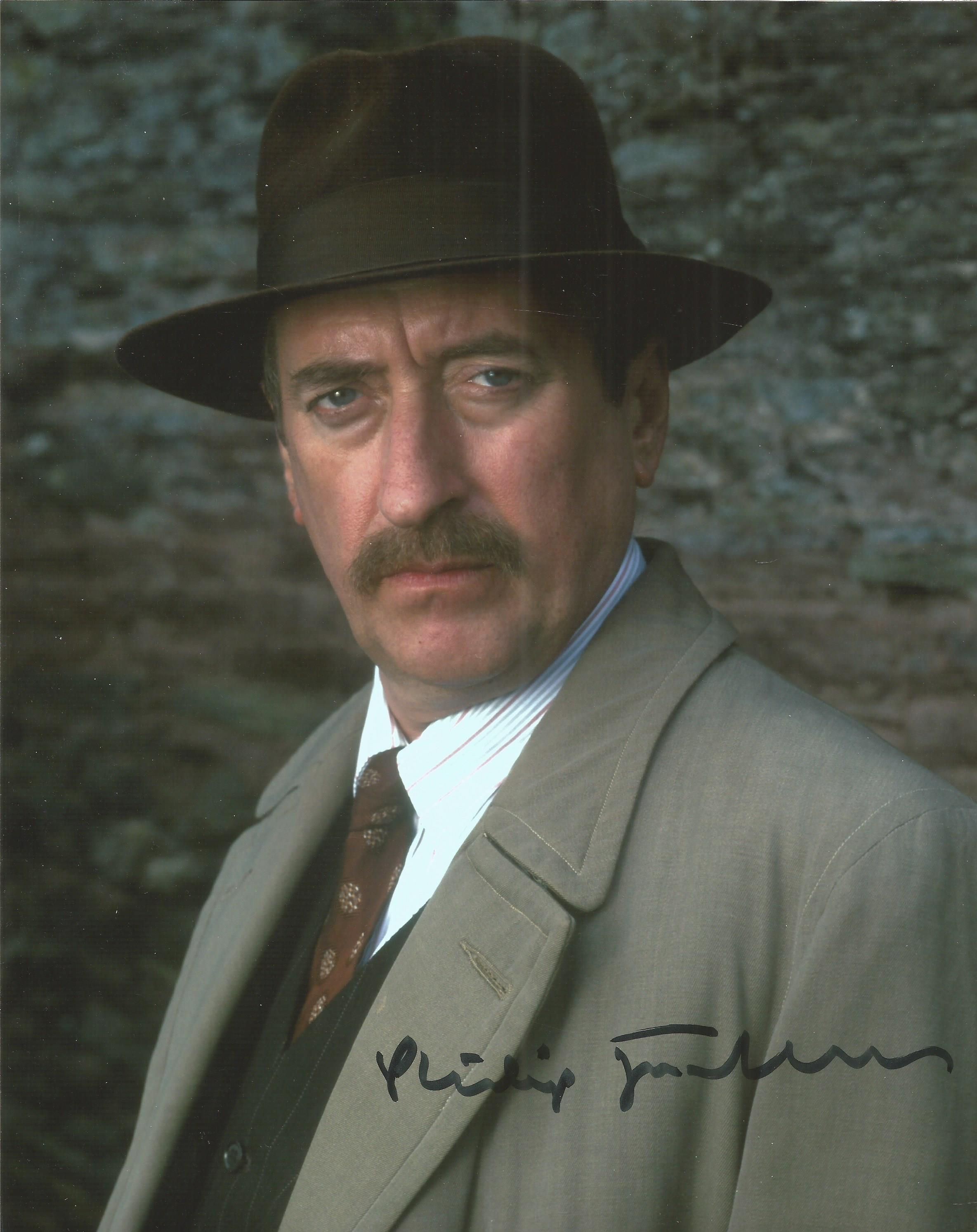 Poirot Phillip Jackson signed 10x8 colour photo. Good condition. All autographs come with a