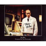 Doctor Who 8x10 Invasion of the Dinosaurs scene photo signed by the late Peter Miles. Good