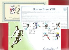 Gordon Banks signed FDC celebrating the 40th anniversary since Englands first World Cup win in 1966.