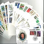 Collection of 44 FDC and Commemorative Covers 18 of which are Silk, with FDI Postmarks and Stamps,