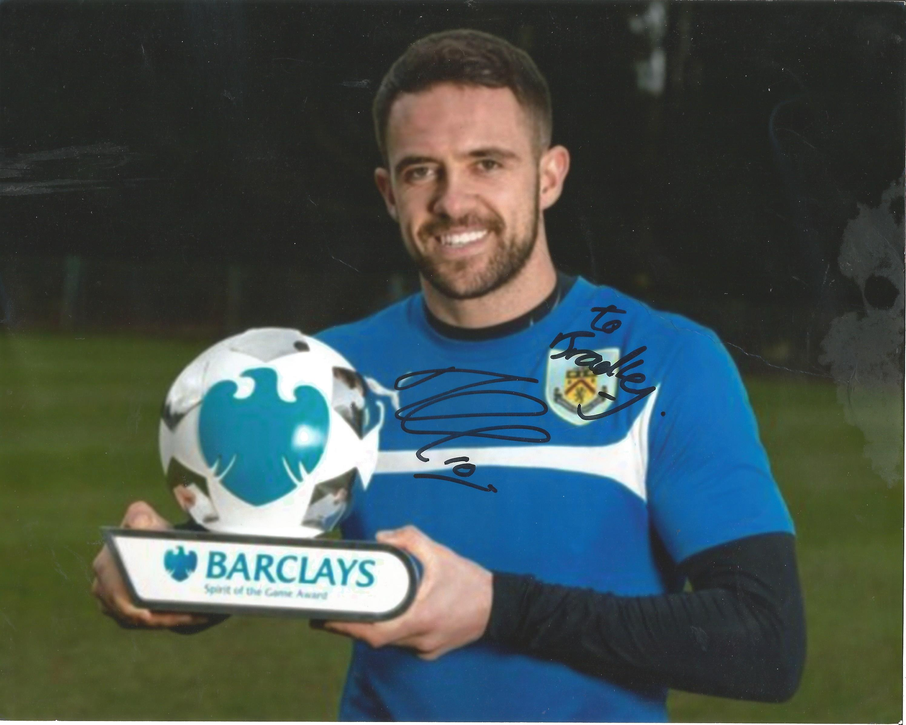 Football Danny Ings signed 10x8 colour photo pictured during his time with Burnley. Daniel William