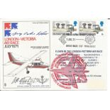 Aviation, James Doolittle and Georg- Peter Eder signed flown London Victoria Air Race FDC. This is