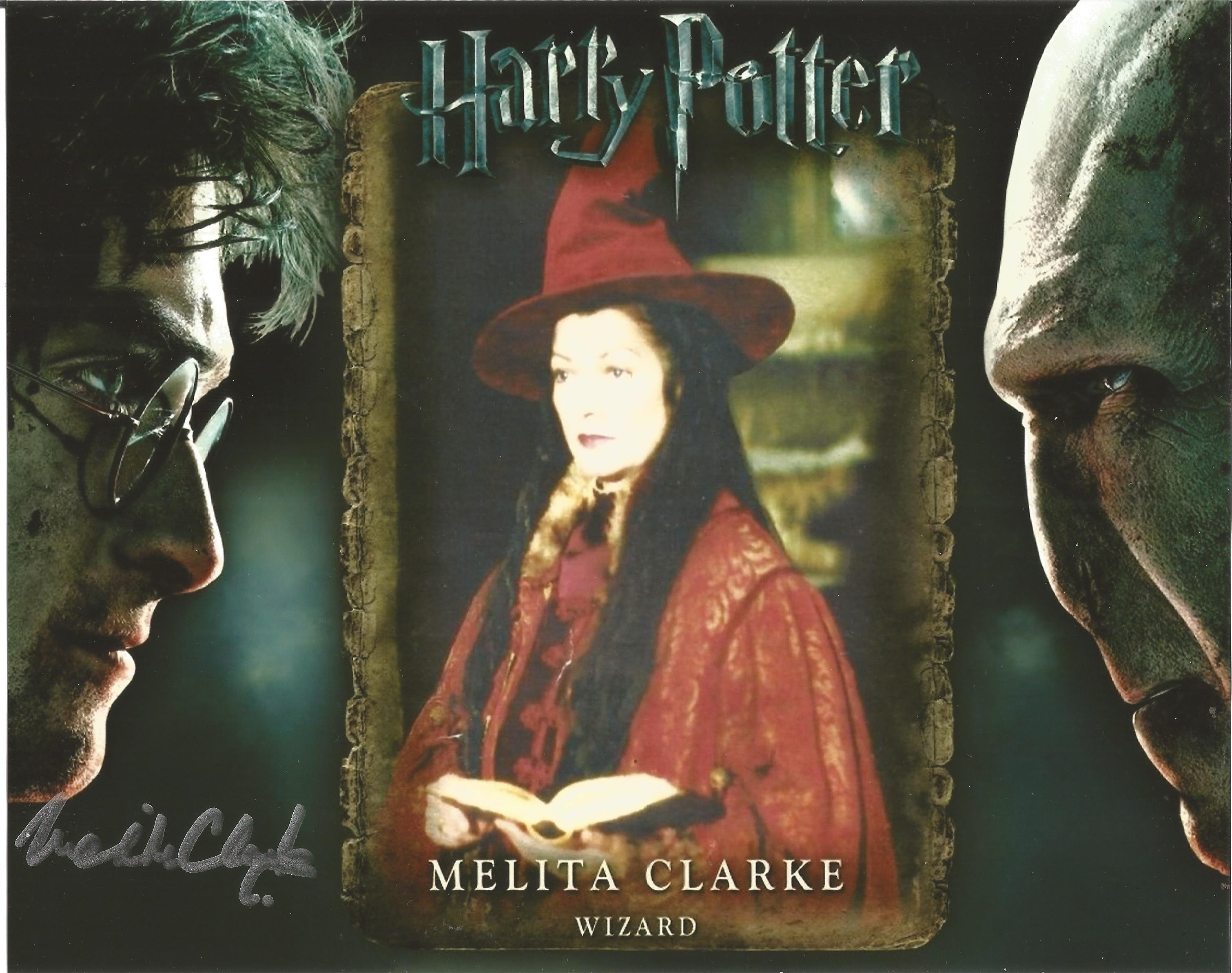 Harry Potter Melita Clarke signed 10x8 colour image. Image of her time playing a wizard on popular