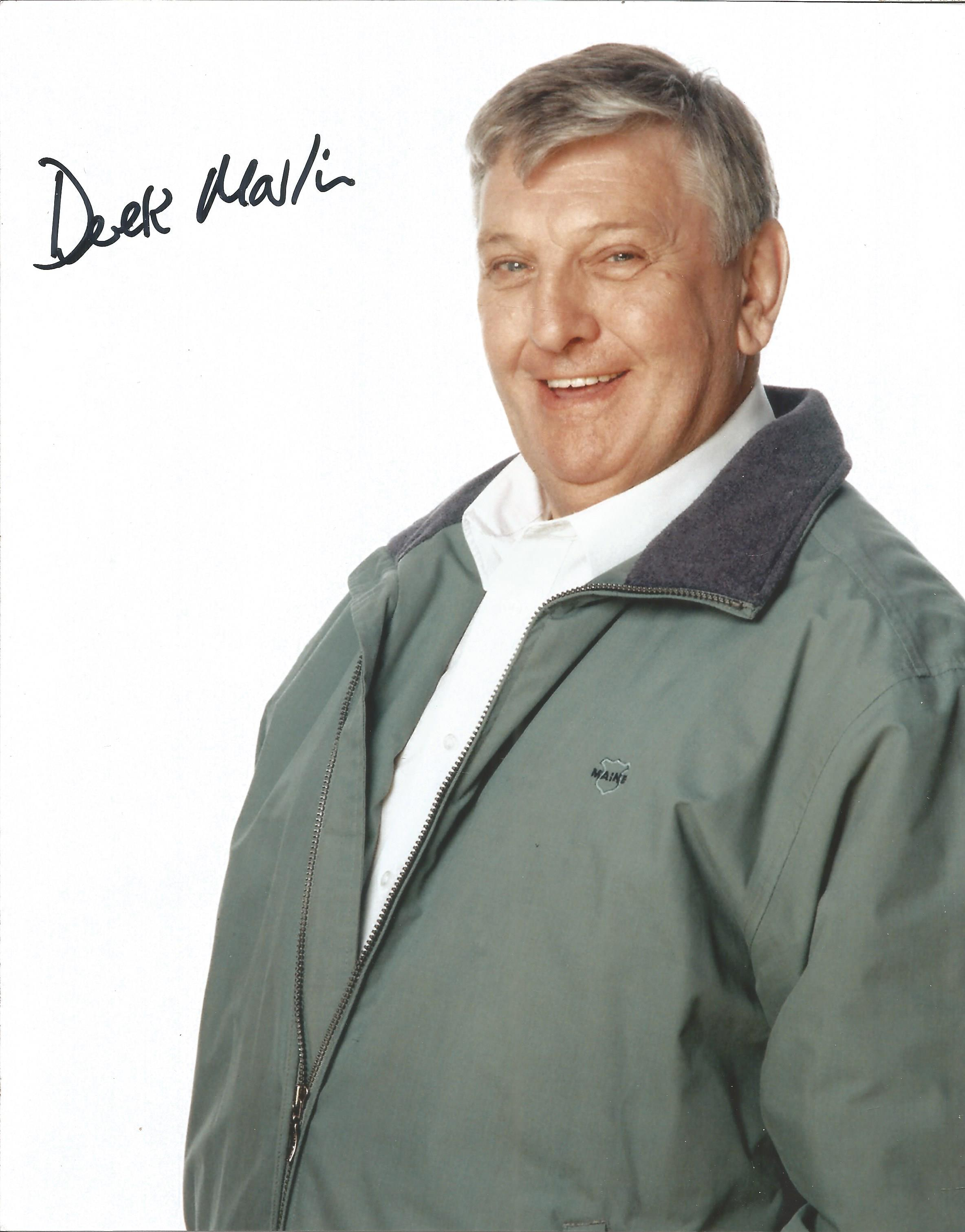 Derek Martin signed 10x8 colour image taken during his role on hit British Television show