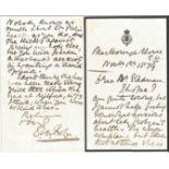 General Sir Dighton Macnaghten Probyn VC ALS on headed paper dated 1879. Probyn, was a British
