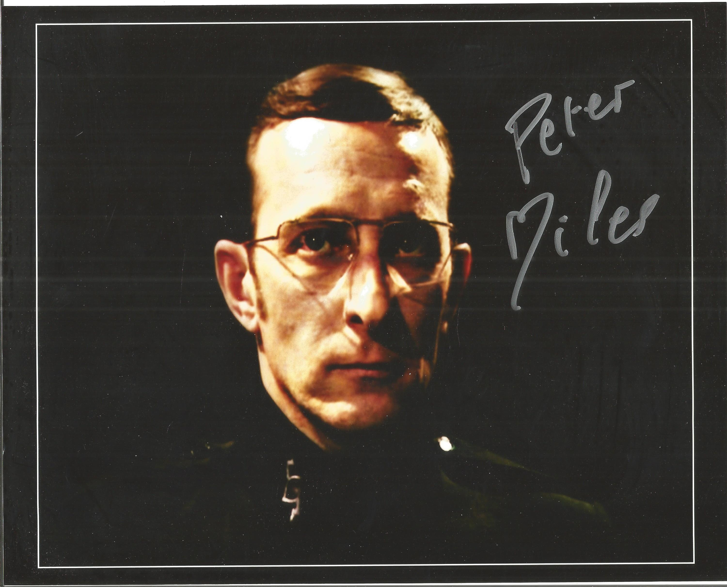 Peter Miles signed 10x8 colour image. Taken from his time on British television show Doctor Who.