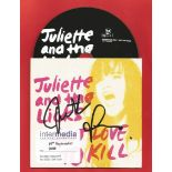 JULIETTE AND THE LICKS American Rock Band signed CD Got Love To Kill by Actress Juliette Lewis .