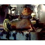 Star Wars 8x10 photo from Return of the Jedi, signed by John Coppinger, the puppeteer who gave