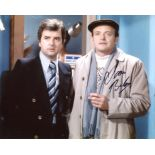 The Likely Lads 8x10 comedy scene photo signed by actor James Bolam. Good condition. All