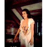 Topless Playboy model and Horror movie actress Madeleine Collinson signed topless horror movie