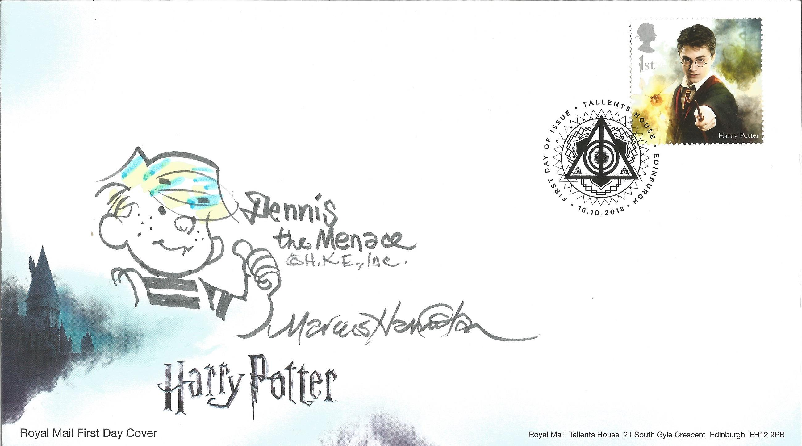 Marcus Hamilton, signed FDC for the Harry Potter film, postmarked 16th Oct 2018, Edinburgh. Good