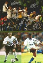 Football Collection Signed Photos Various Sizes, Including Rio Ferdinand, Robbie Earle, Ruud,