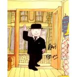 Mr Benn 8x10 photo from the children's TV series 'Mr Benn' signed by series narrator Ray Brooks .