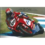 Motor Racing Neil Hodgson signed 12x8 colour photo.