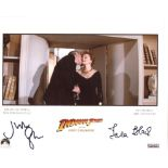 Indiana Jones and The Last Crusade 8x10 photo signed by two stars of the movie, Julian Glover and
