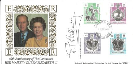 Sir Edmond Hillary signed FDC celebrating the 40th Anniversary of the Coronation Her Majesty Queen