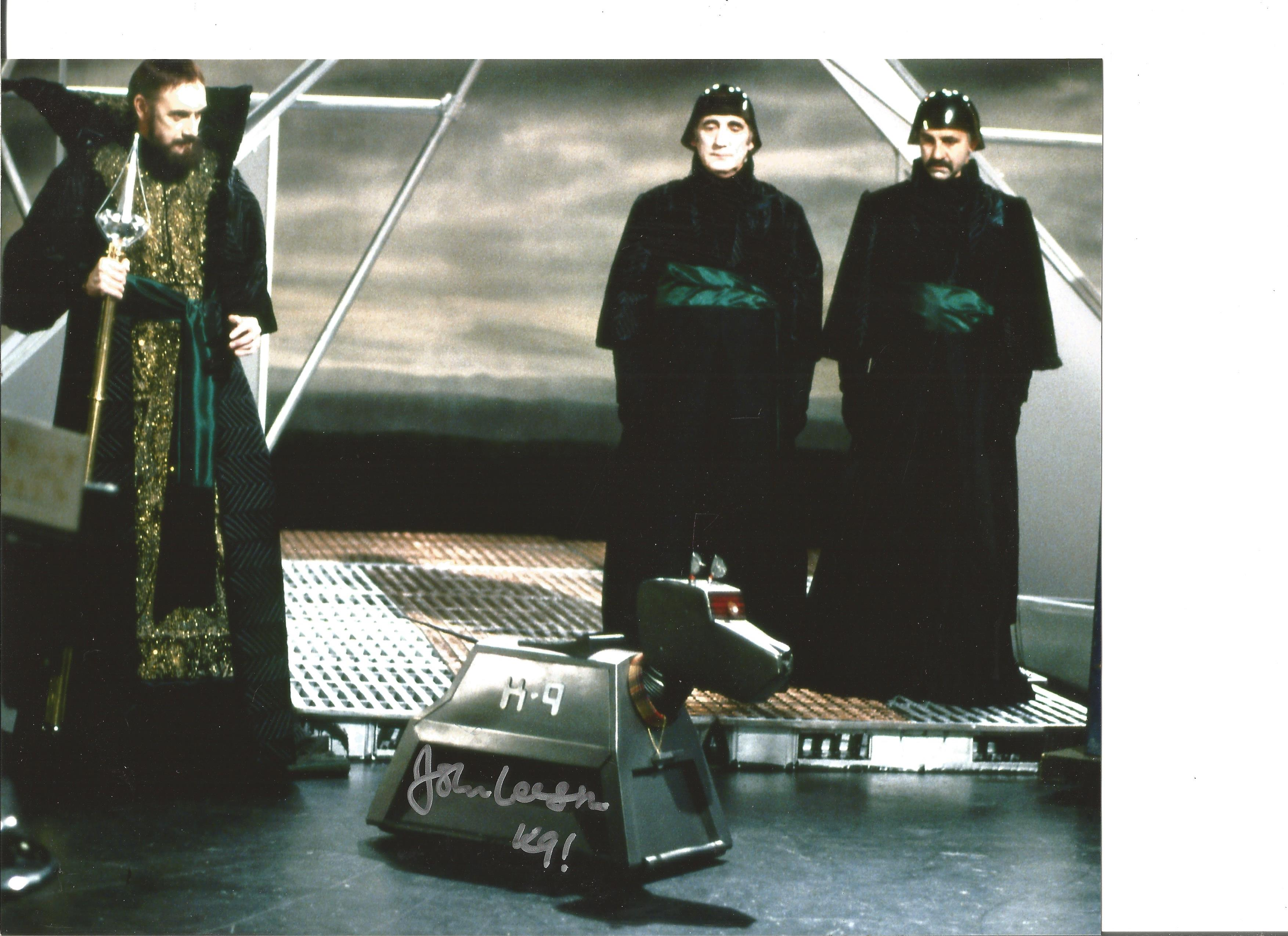 John Leeson signed 10x8 colour photo from Dr Who. Good condition. All autographs come with a