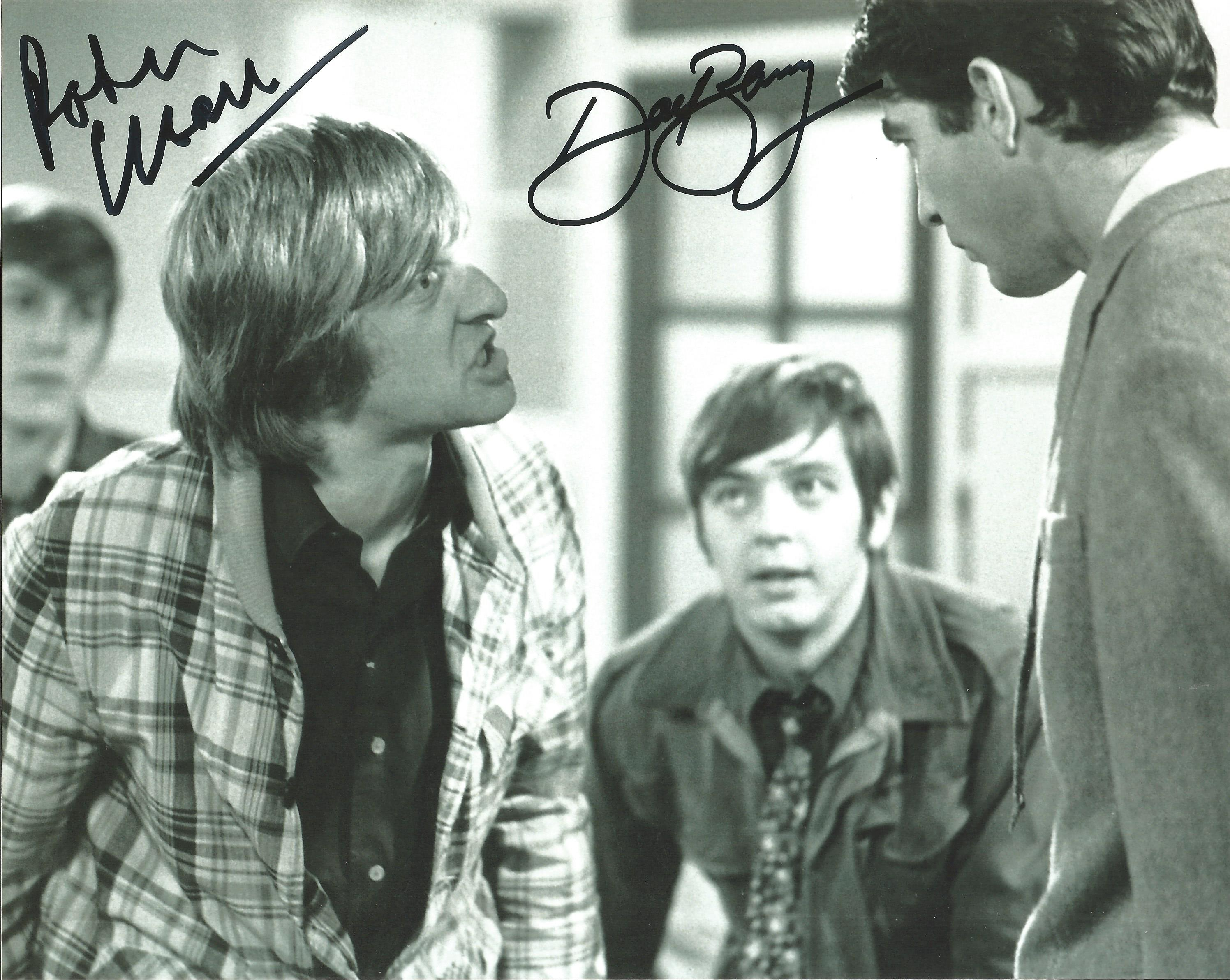 Peter Cleall and Dave Barry ,Fenn Street Gang signed b/w 8x10 photograph. Good condition. All