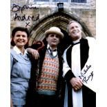 Doctor Who 8x10 scene photo signed by actors Sophie Aldred and Nicholas Parsons. Good condition. All