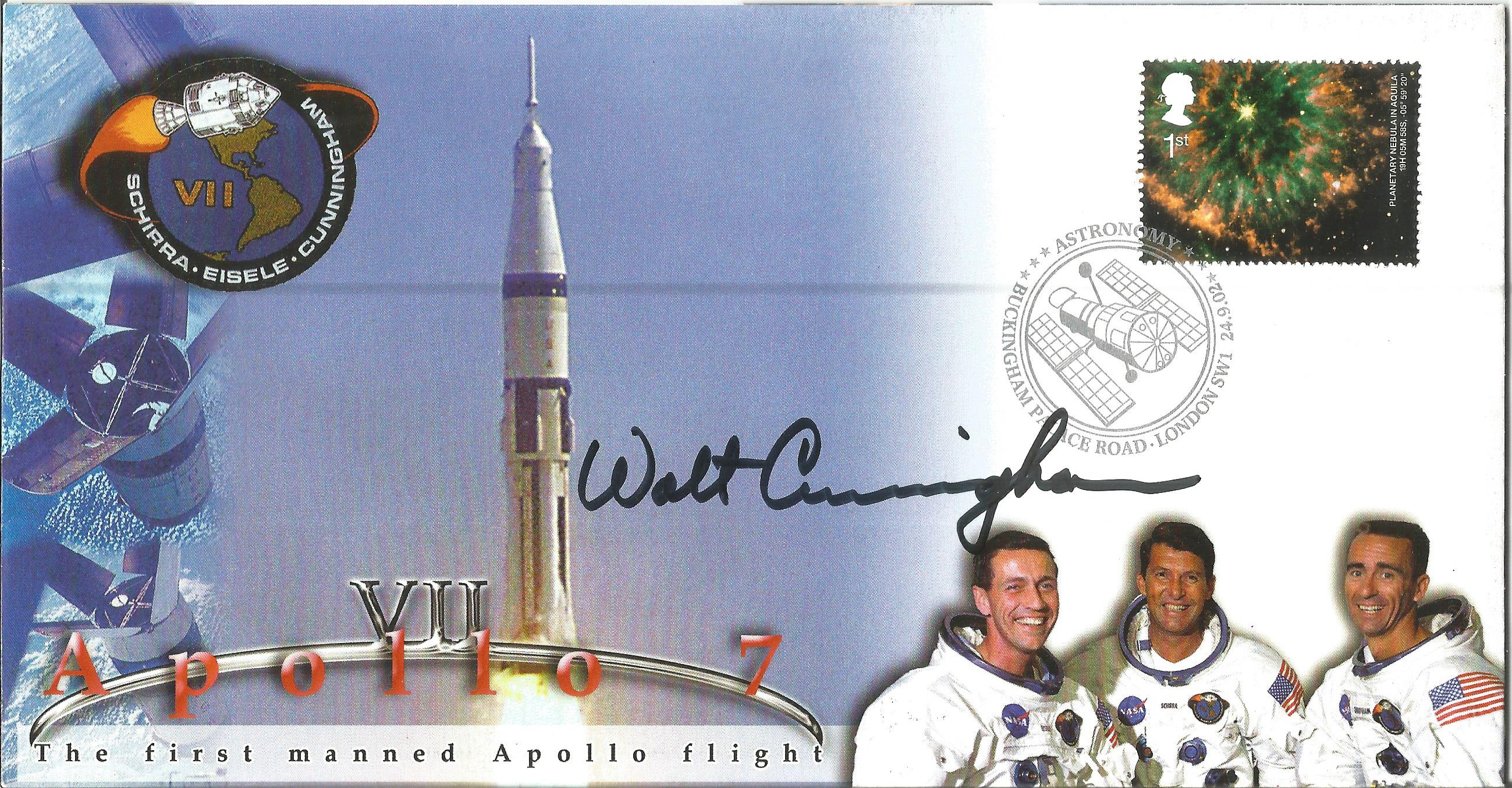 Astronaut Walt Cunningham signed Apollo 7 2002 cover produced for the Ex-Prisoners of War