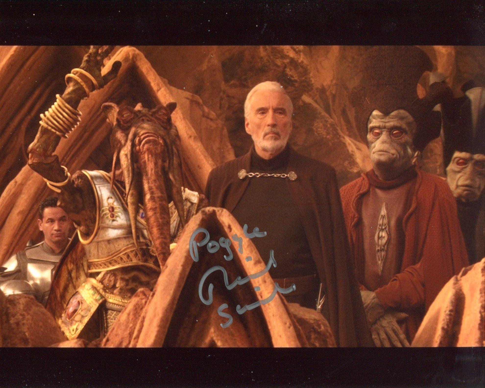 Star Wars. Nice 8x10 scene photo signed by Star Wars actor Richard Stride (Poggle). Good