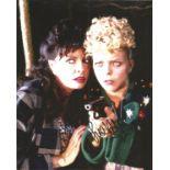 ALLO ALLO comedy photo scene signed by Sue Hodge as Mimi. 8x10 colour image. Sue Hodge is an English