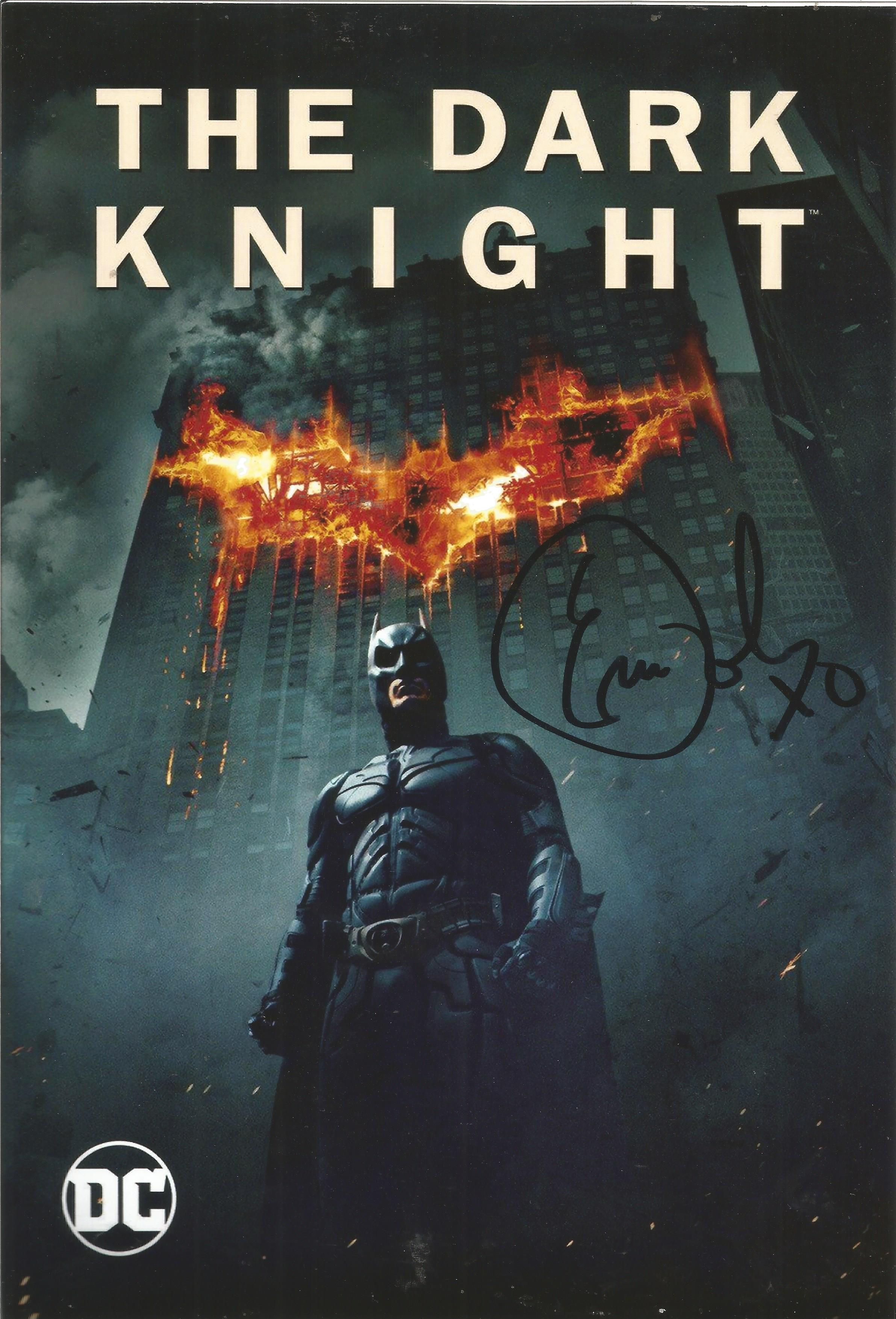 Batman Dark Knight Eric Roberts signed 10x8 colour photo. Good condition. All autographs come with a