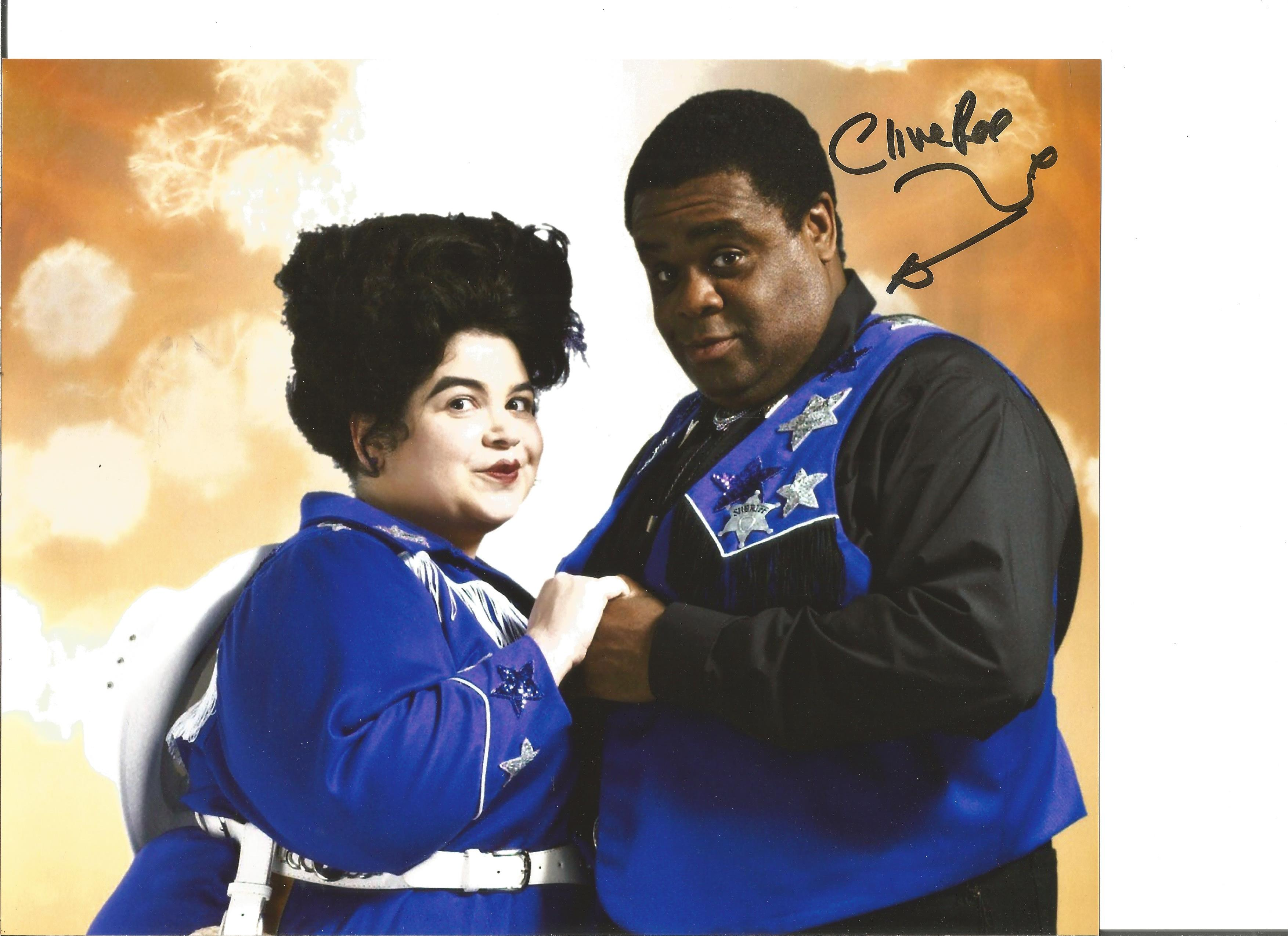 Clive Rowe signed 10x8 colour photo from Dr Who. Good condition. All autographs come with a