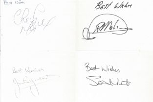Football Signature Collection 114 Signed White Cards in Album, Including Chris Makin, Stuart McCall,