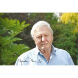 David Attenborough signed 10x8 colour image featuring him with greenery background. Good