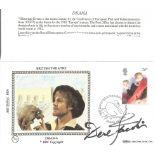 Derek Jacobi signed FDC celebrating British theatre post marked Avon, 28th April 1982. Good