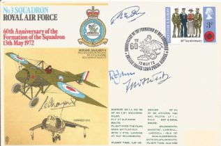 RAF, multi-signed FDC commemorating the 60th anniversary of the formation of the No.3 Squadron. This