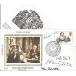 Leslie Thomas, Stan Barstow, Ruth Rendell and Alan Stillitoe signed FDC celebrating Famous
