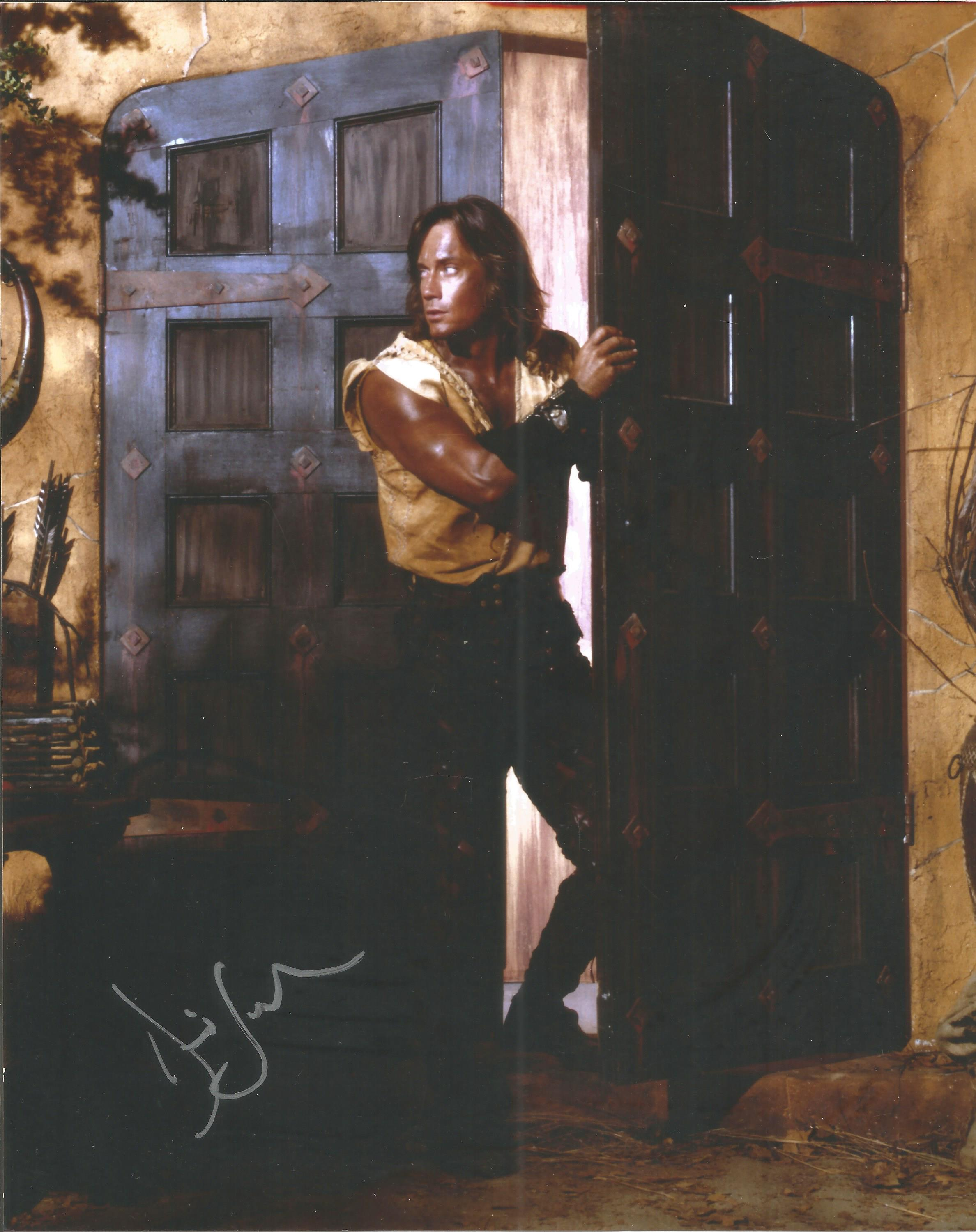 Hercules Kevin Sorbo hand signed 10x8 photo. This beautiful hand signed photo depicts Kevin Sorbo.