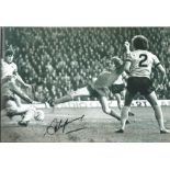 Football Steve Heighway signed 12x8 black and white photo pictured in action for Liverpool.