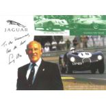 Stirling Moss signed and dedicated 6x4 colour promo photograph. This item shows a collage of