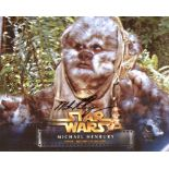 Star Wars 8x10 photo from Return of the Jedi, signed by Michael Henbury who was an Ewok in this