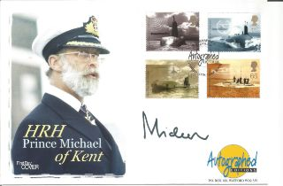 Prince Michael of Kent signed Autographed Edition FDC in honour of Michael George Charles
