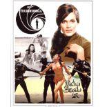 007 Bond Girl 8x10 inch Bond movie Thunderball montage photo signed by actress Martine Beswick. Good