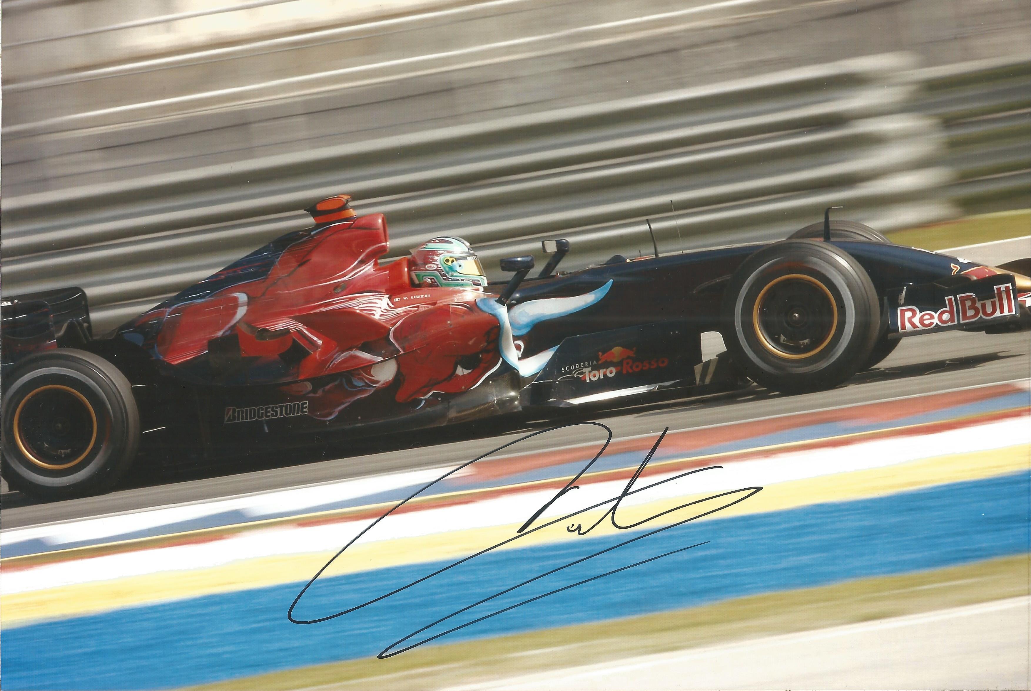 Vitantonio Liuzzi signed 12x8 colour photo. Good Condition. All autographs come with a