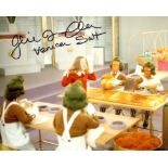 Willy Wonka 8x10 movie scene photo signed by actress Julie Dawn Cole who played Veruca Salt. Good