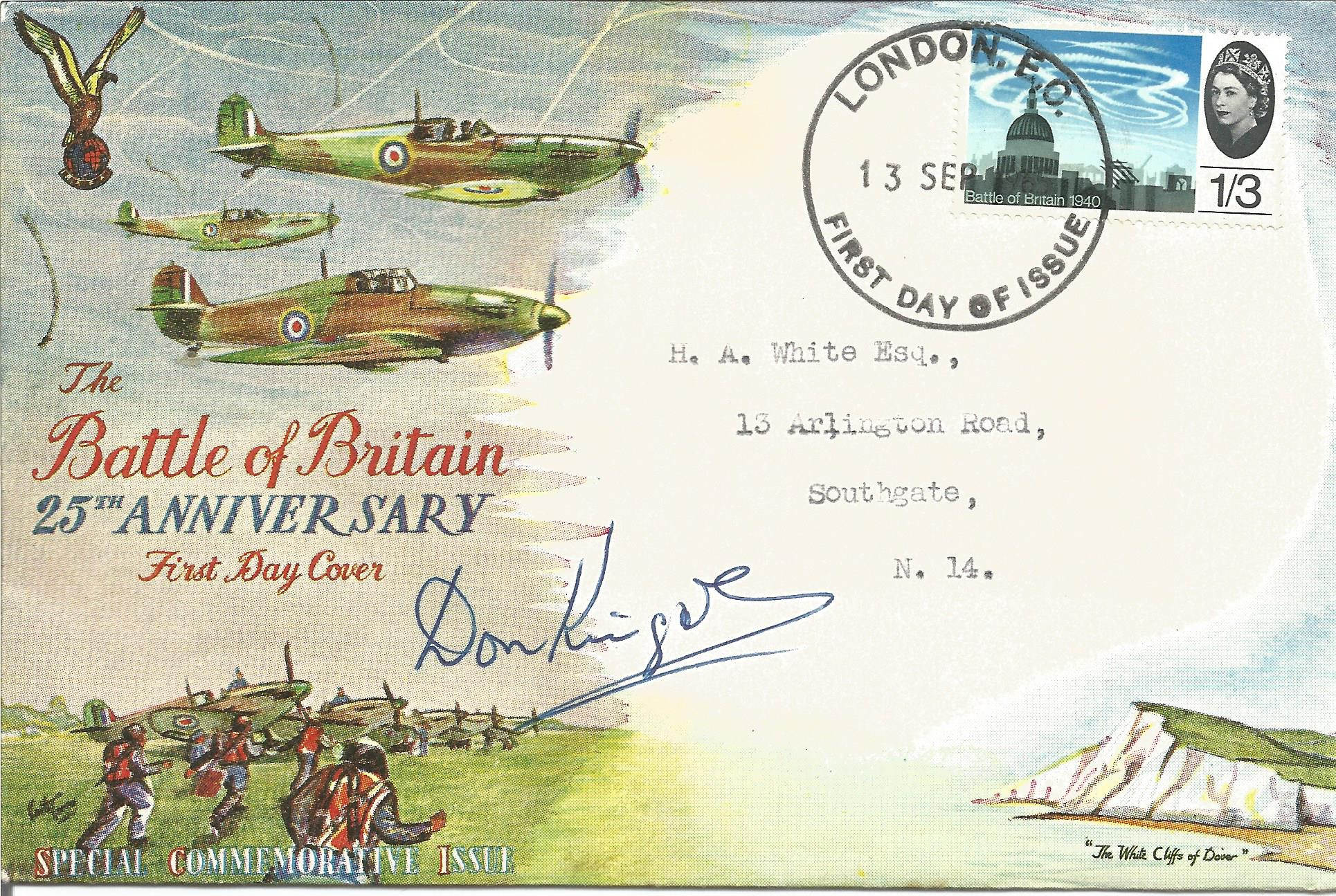 WW2, Donald Kingaby Battle of Britain 25th anniversary special commemorative issue first day cover