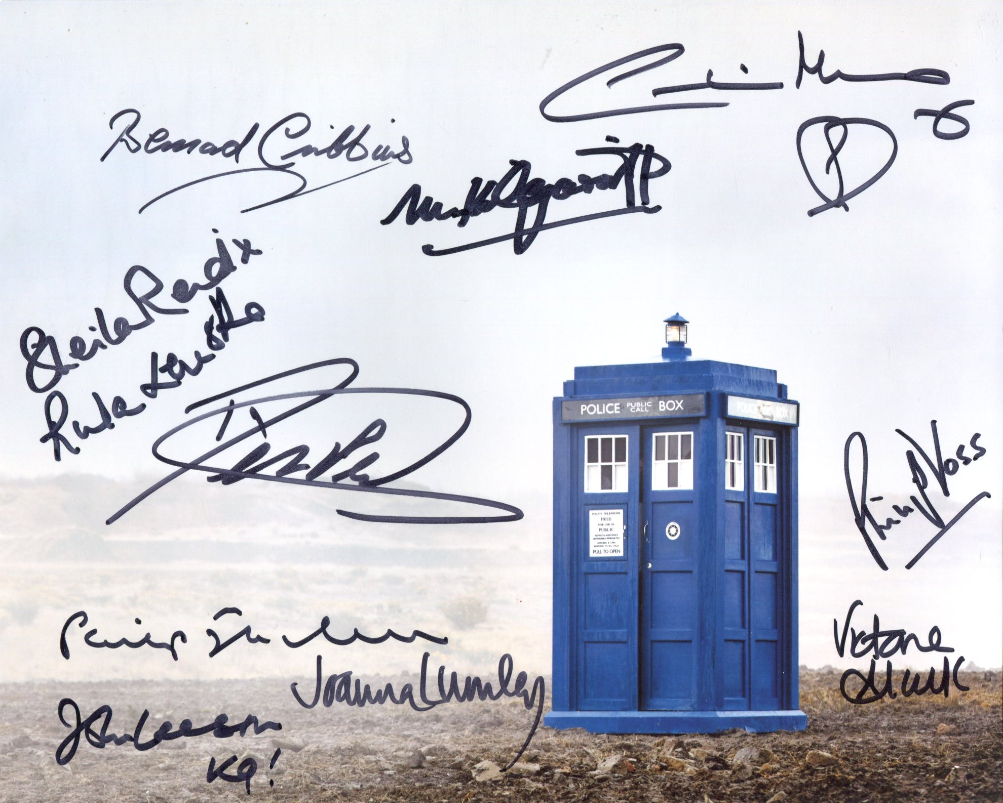 Doctor Who 8x10 photo signed by ELEVEN actors who have starred in the series to include Joanna