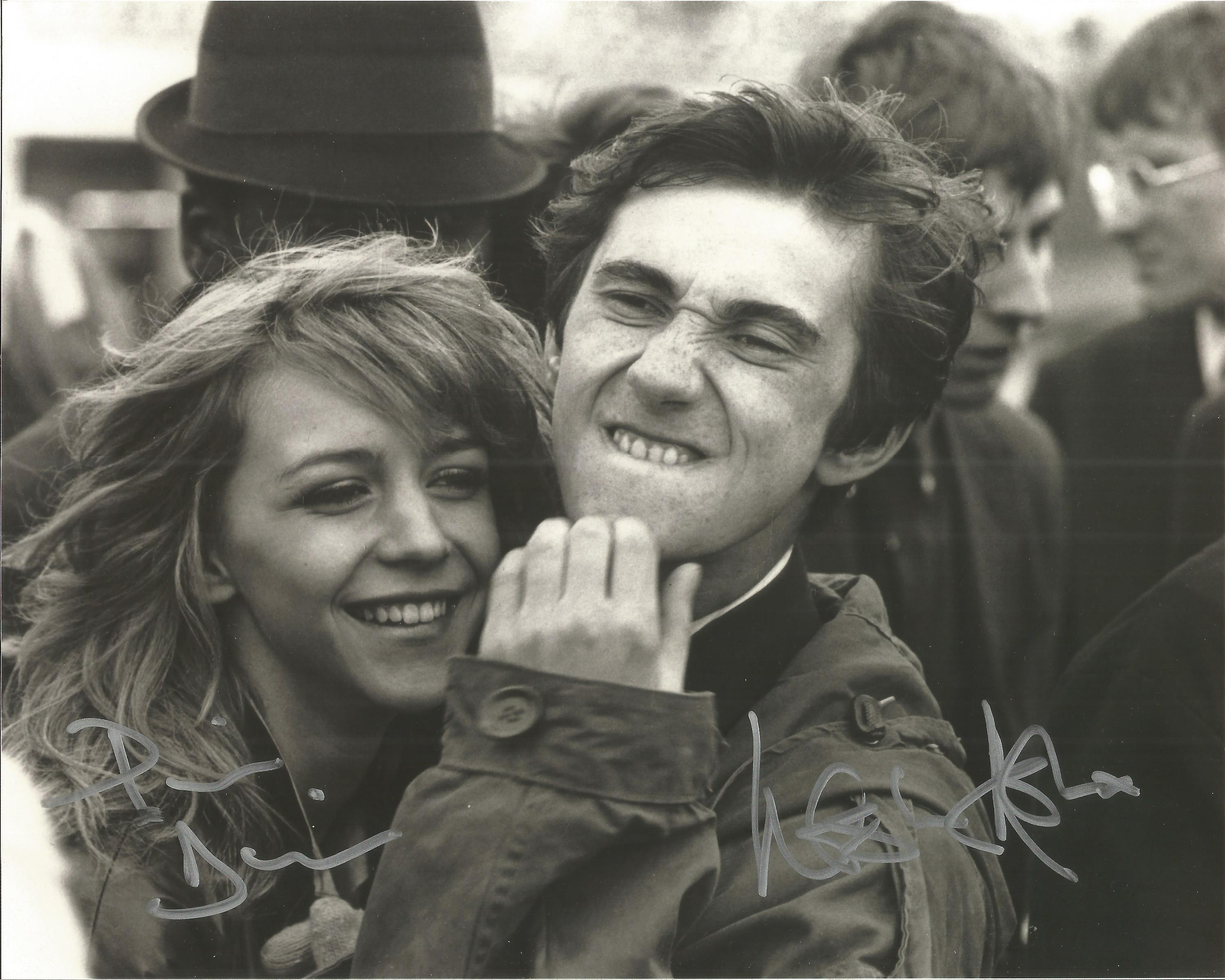 Phil Daniels and Leslie Ash signed 10x8 black and white image. Quadrophenia is a 1979 British