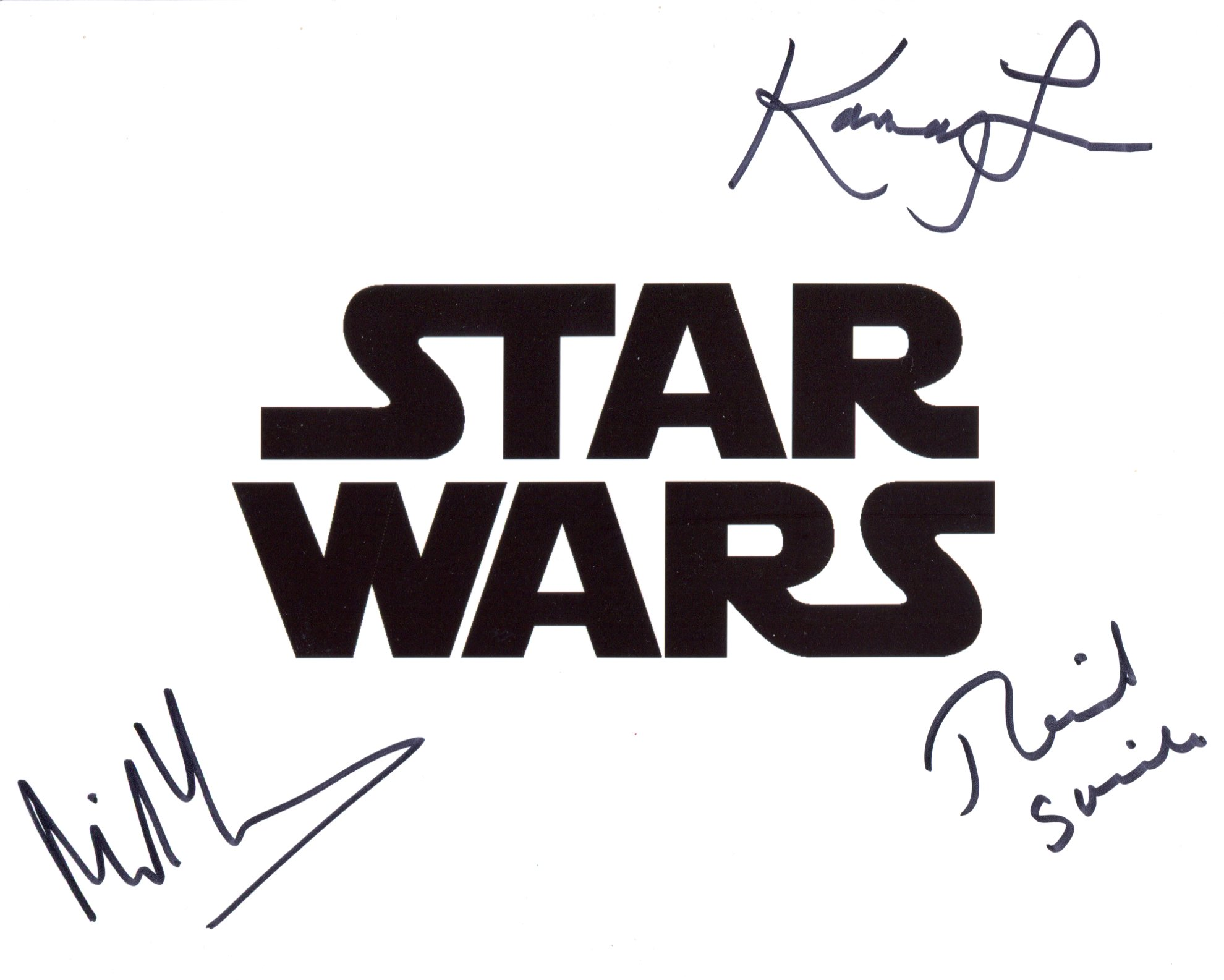 Star Wars multi-signed 8x10 movie photo signed by THREE actors from the films in Miltos Yerolemou,