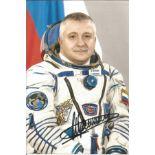 Fyodor Yurchikhin Russian Soyuz Cosmonaut signed 6 x 4 colour photo. Yurchikhin was an engineer